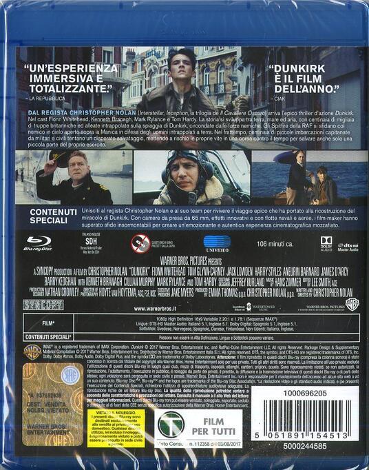 Dunkirk (Blu-ray) di Christopher Nolan - Blu-ray - 6