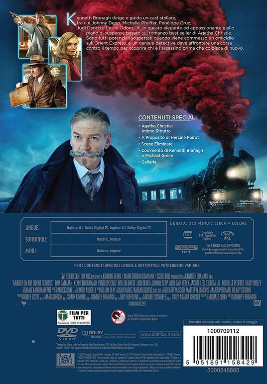 Assassinio sull'Orient Express (DVD) di Kenneth Branagh - DVD - 10