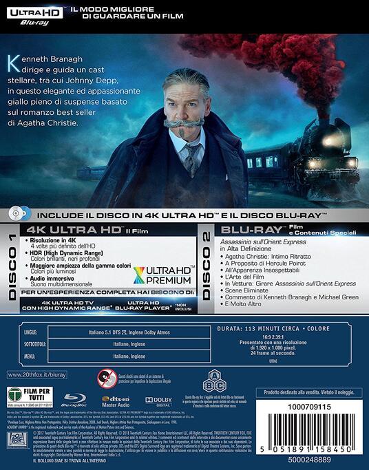 Assassinio sull'Orient Express (Blu-ray + Blu-ray 4K Ultra HD) di Kenneth Branagh - Blu-ray + Blu-ray Ultra HD 4K - 10