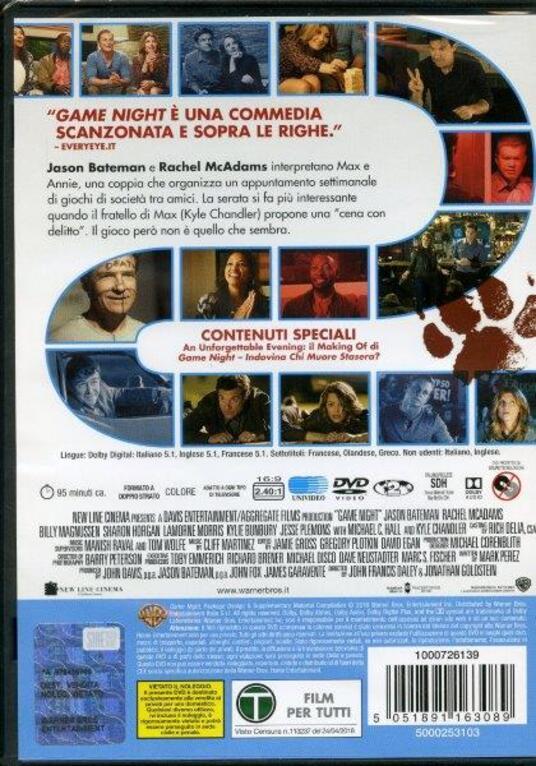 Game Night. Indovina chi muore stasera? (DVD) di John Francis Daley,Jonathan Goldstein - DVD - 3