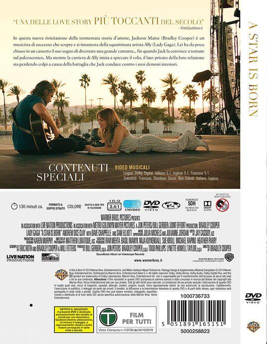 A Star Is Born (DVD) di Bradley Cooper - DVD - 3
