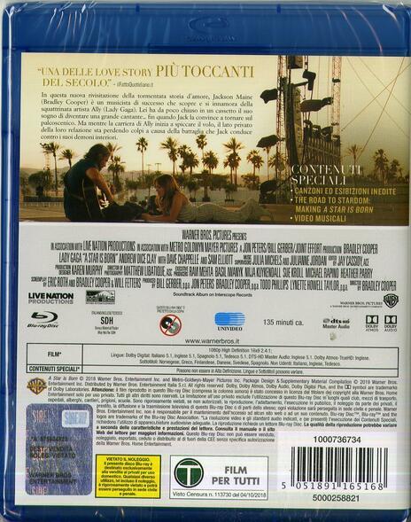 A Star Is Born (Blu-ray) di Bradley Cooper - Blu-ray - 2