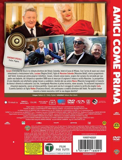 Amici come prima (DVD) di Christian De Sica - DVD - 2