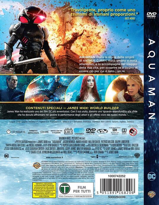 Aquaman (DVD) di James Wan - DVD - 2