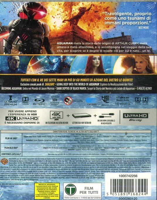 Aquaman (Blu-ray + Blu-ray 4K Ultra HD) di James Wan - Blu-ray + Blu-ray Ultra HD 4K - 2