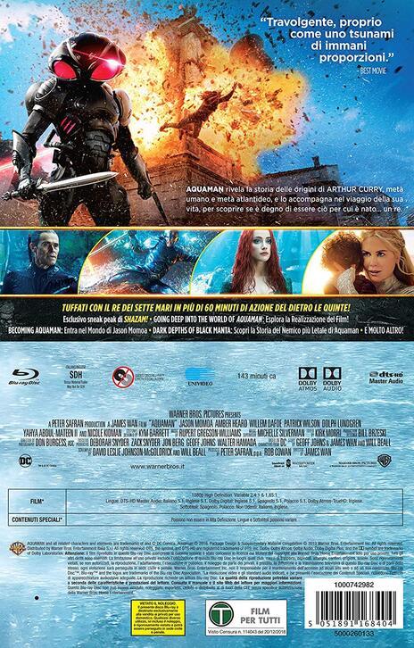 Aquaman. Con fumetto (Blu-ray) di James Wan - Blu-ray - 2
