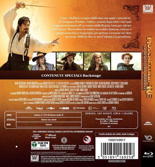 Moschettieri del re. La penultima missione (Blu-ray) di Giovanni Veronesi - Blu-ray - 2