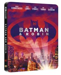 Cover Dvd Batman & Robin. Con Steelbook (Blu-ray + Blu-ray Ultra HD 4K)