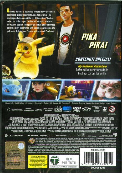 Detective Pikachu (DVD) di Rob Letterman - DVD - 2