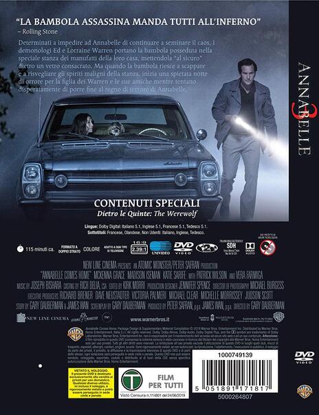 Annabelle 3 (DVD) di Gary Dauberman - DVD - 2