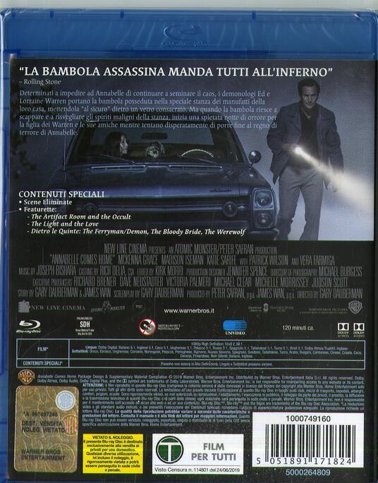 Annabelle 3 (Blu-ray) di Gary Dauberman - Blu-ray - 2