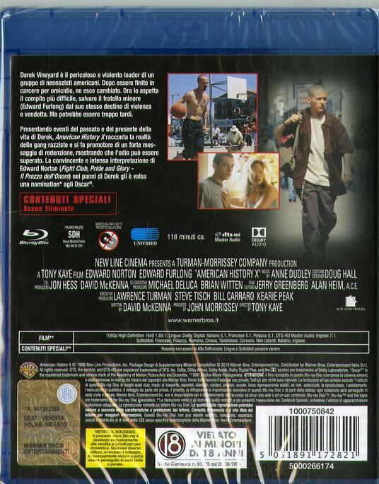American History X (Blu-ray) di Tony Kaye - Blu-ray - 2