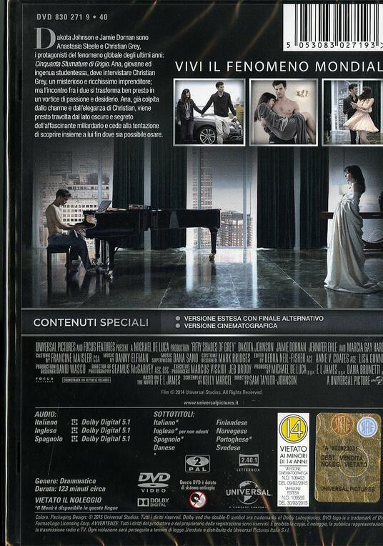 Cinquanta sfumature di grigio di Sam Taylor-Johnson - DVD - 2