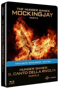 Cover Dvd Hunger Games. Il canto della rivolta. Parte 2. Con Steelbook (Blu-ray)