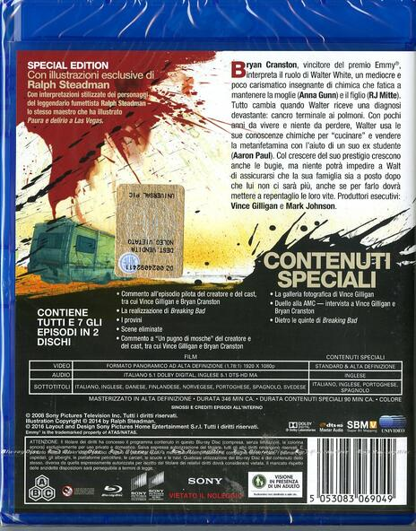 Breaking Bad. Stagione 1 (2 Blu-ray) di Vince Gilligan,Adam Bernstein,Jim McKay,Tricia Brock - Blu-ray - 2