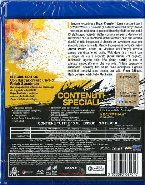 Breaking Bad. Stagione 4 (3 Blu-ray) di Adam Bernstein,Michelle MacLaren,David Slade,Colin Bucksey - Blu-ray - 2