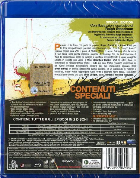Breaking Bad. Stagione 5. Parte 1 (2 Blu-ray) di Michael Slovis,Michelle MacLaren,Adam Bernstein - Blu-ray - 2