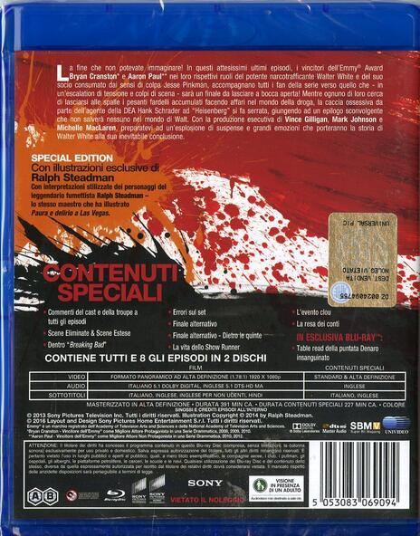 Breaking Bad. Stagione 5. Parte 2 (3 Blu-ray) di Michelle MacLaren,Vince Gilligan,Michael Slovis - Blu-ray - 2