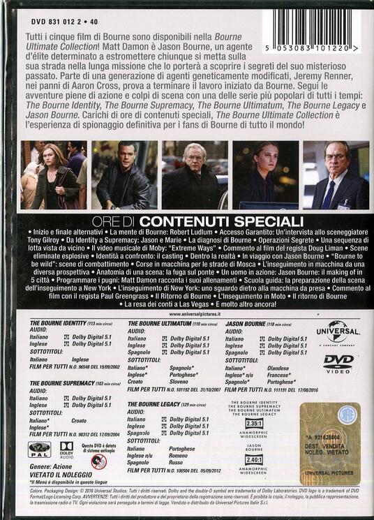 Jason Bourne. 5 Movie Collection (5 DVD) di Tony Gilroy,Paul Greengrass,Doug Liman - 2