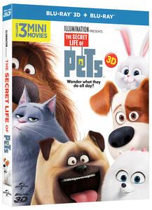 Pets. Vita da animali 3D (Blu-ray + Blu-ray 3D) di Yarrow Cheney,Chris Renaud - 2