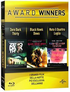 Zero Dark Thirty. Black Hawk Dawn. Nato il 4 luglio. Oscar Collection (3 Blu-ray) di Kathryn Bigelow,Ridley Scott,Oliver Stone