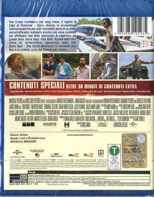 Barry Seal. Una storia americana (Blu-ray) di Doug Liman - Blu-ray - 2