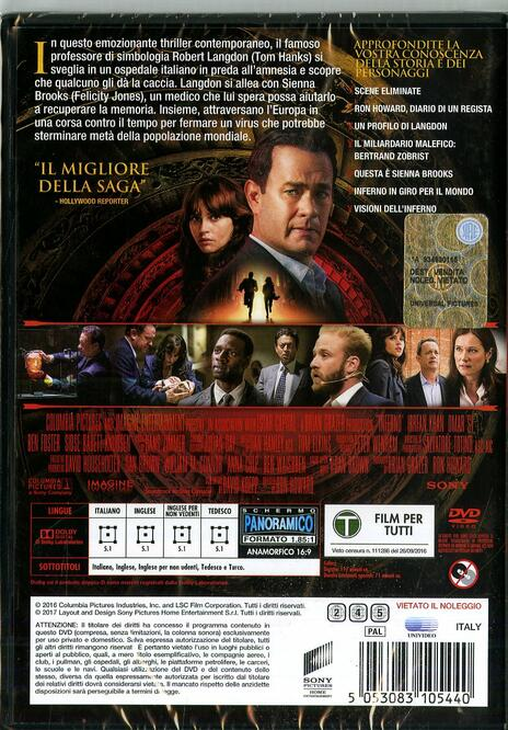Inferno (DVD) di Ron Howard - DVD - 7