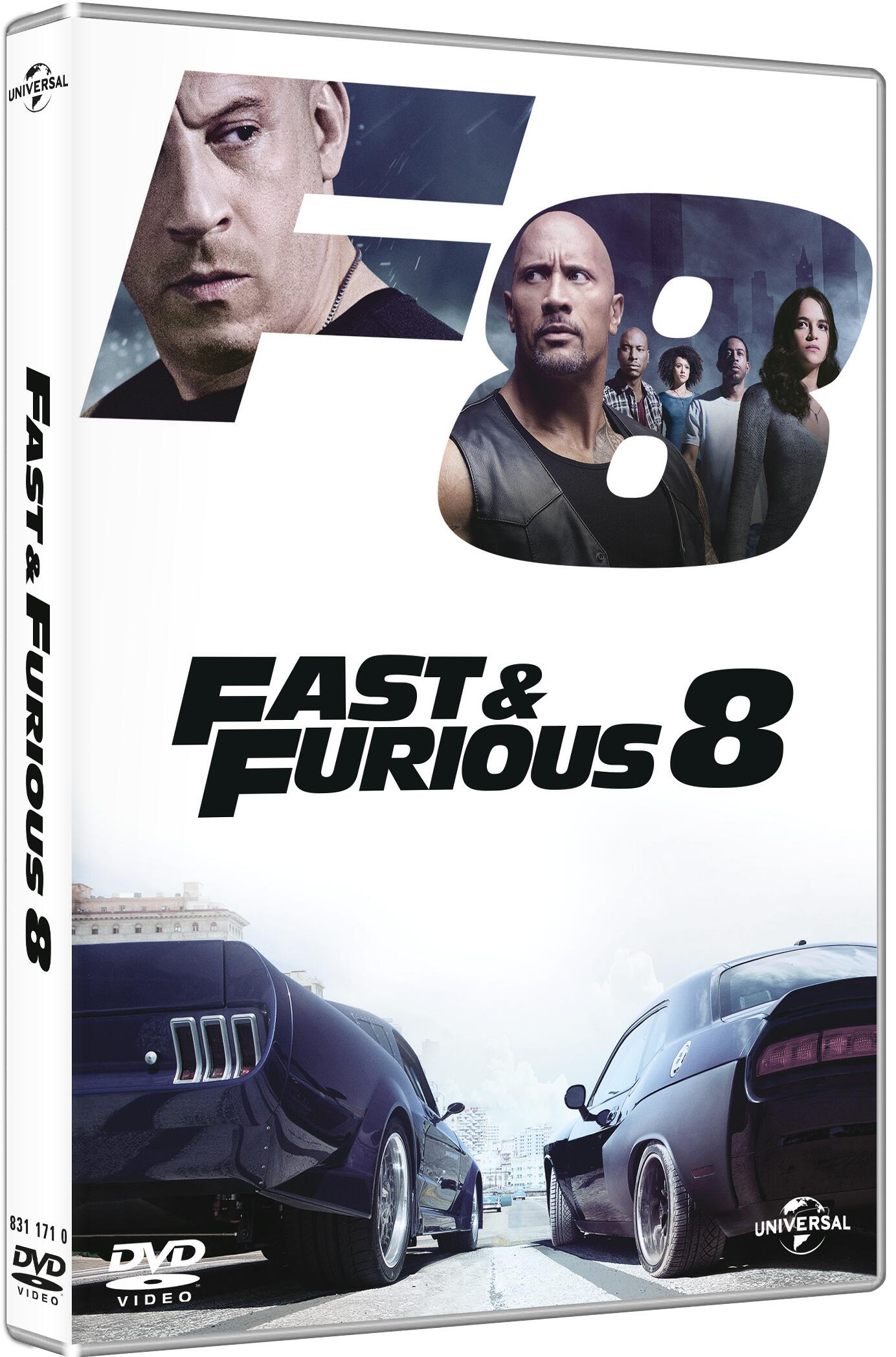 fast furious 8 dvd dvd film di f gary gray. Black Bedroom Furniture Sets. Home Design Ideas