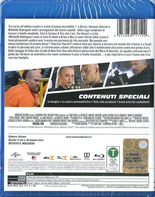 Fast & Furious 8 (Blu-ray) di F. Gary Gray - Blu-ray - 2