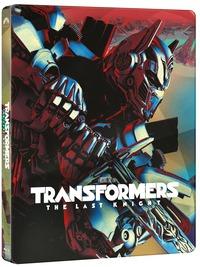 Cover Dvd Transformers. L'ultimo cavaliere. Con Steelbook (Blu-ray)