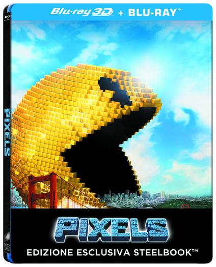 Pixels. Con Steelbook (Blu-ray + Blu-ray 3D) di Chris Columbus - Blu-ray + Blu-ray 3D