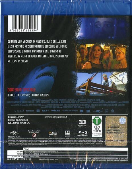 47 metri (Blu-ray) di Johannes Roberts - Blu-ray - 2