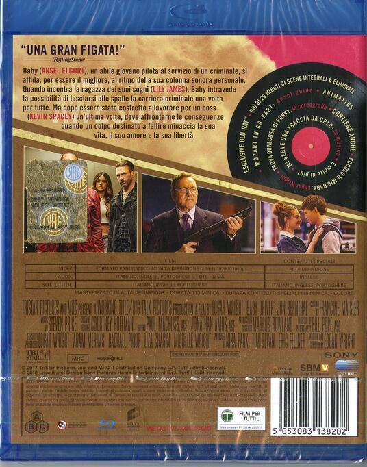 Baby Driver. Il genio della fuga (Blu-ray) di Edgar Wright - Blu-ray - 2