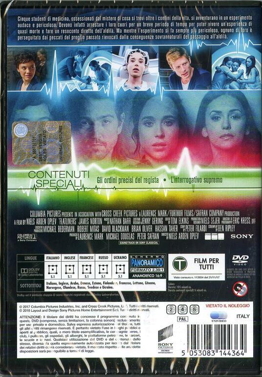Flatliners. Linea mortale (DVD) di Niels Arden Oplev - DVD - 2