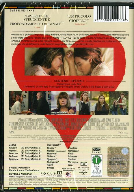Lady Bird (DVD) di Greta Grewig - DVD - 2