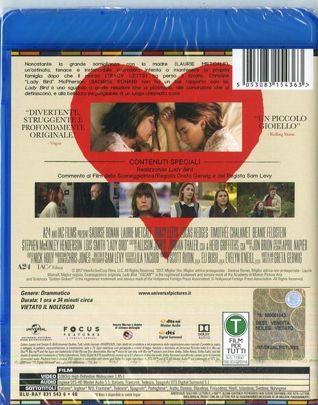 Lady Bird (Blu-ray) di Greta Grewig - Blu-ray - 2