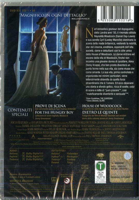 Il filo nascosto (DVD) di Paul Thomas Anderson - DVD - 2