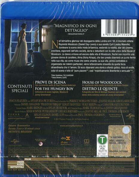 Il filo nascosto (Blu-ray) di Paul Thomas Anderson - Blu-ray - 2