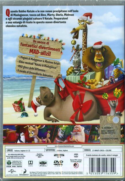 Buon Natale Madagascar.Buon Natale Madagascar Dvd Dvd Film Di David Soren Animazione