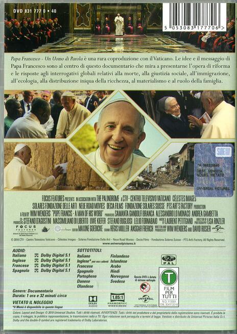 Papa Francesco. Un uomo di parola (DVD) di Wim Wenders - DVD - 2