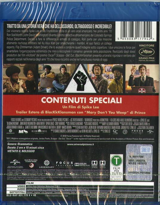 BlacKkKlansman (Blu-ray) di Spike Lee - Blu-ray - 2