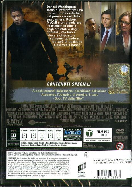 The Equalizer 2. Senza perdono (DVD) di Antoine Fuqua - DVD  - 2
