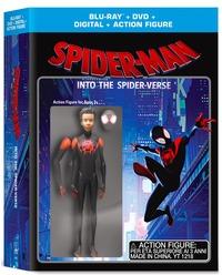 Cover Dvd Spider-Man. Un nuovo universo. Limited Edition con Action Figure (DVD + Blu-ray)