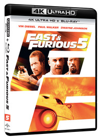 Cover Dvd Fast and Furious 5 (Blu-ray + Blu-ray 4K Ultra HD)
