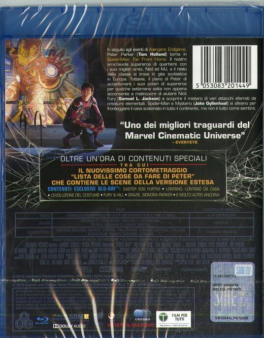 Spider-Man. Far from Home (Blu-ray) di Jon Watts - Blu-ray  - 2