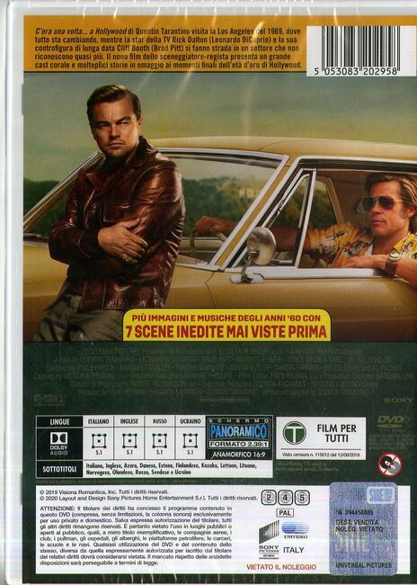 C'era una volta a Hollywood (DVD) di Quentin Tarantino - DVD - 2