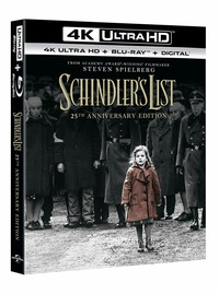 Cover Dvd Schindler's List (Blu-ray + Blu-ray UltraHD 4K)