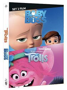 Film Cofanetto Dreamworks. Baby Boss + Trolls (2 DVD) Hendel Butoy Tom McGrath Mike Mitchell Walt Dohrn