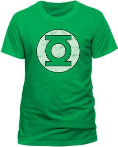 T-Shirt uomo Green Lantern. Distressed Logo