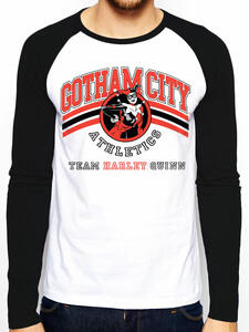 T-Shirt Unisex Batman. Team Harley Quinn Raglan Baseball